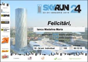 Certificat Sky Run 2016